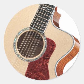 guitarra pegatina redonda