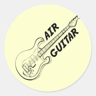 Guitarra-Pegatinas del aire Pegatina Redonda