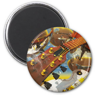 Guitarra por el arte de Lenny Iman De Frigorífico