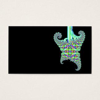 Guitarra psicodélica del fractal tarjetas de visita