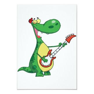 """Guitarra que juega invitaciones del dinosaurio invitación 3.5"""" x 5"""""""