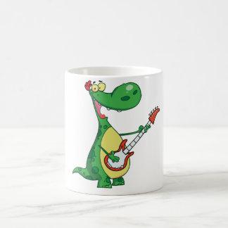 Guitarra que juega la taza del dinosaurio