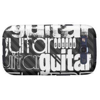 Guitarra; Rayas negras y gris oscuro Samsung Galaxy SIII Funda