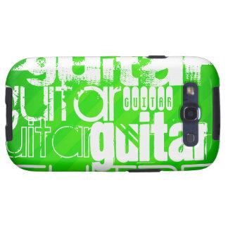 Guitarra; Rayas verdes de neón Samsung Galaxy SIII Funda