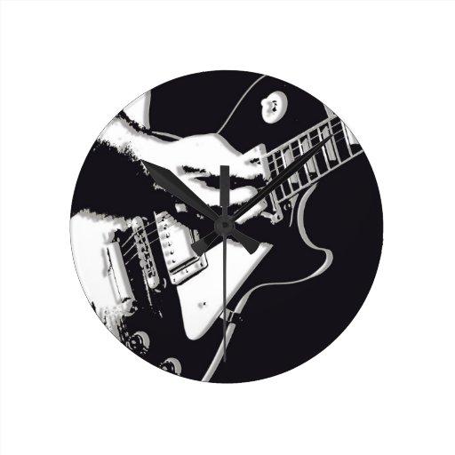 Guitarra Reloj De Pared