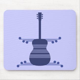 Guitarra retra Mousepad azul marino Tapetes De Ratón