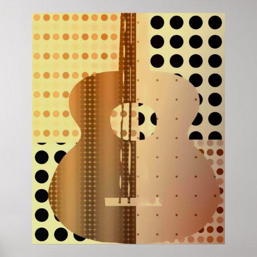 guitarra retra posters