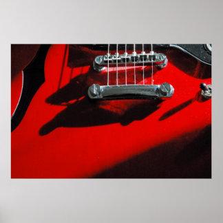 Guitarra roja impresiones