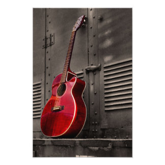 Guitarra roja cojinete