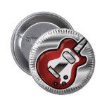 Guitarra roja pins