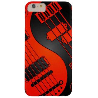 Guitarra roja y negra y Yin bajo Yang Funda De iPhone 6 Plus Barely There