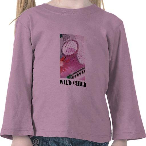 guitarra rosada, camiseta salvaje de los chicas de
