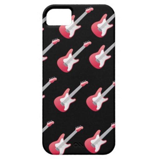 Guitarra rosada iPhone 5 carcasas