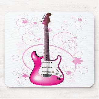Guitarra rosada Mousepad Alfombrillas De Raton