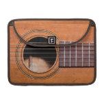 Guitarra rústica funda para macbook pro
