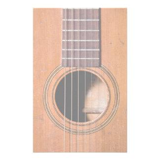 Guitarra rústica papelería de diseño