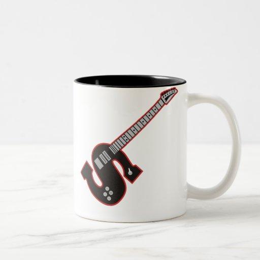 Guitarra S Taza De Dos Tonos