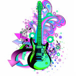 Guitarra salvaje escultura fotografica