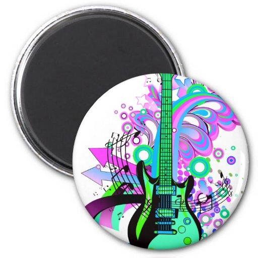 Guitarra salvaje iman de nevera