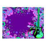 Guitarra salvaje (púrpura) tarjetas postales