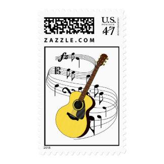 Guitarra Sello Postal