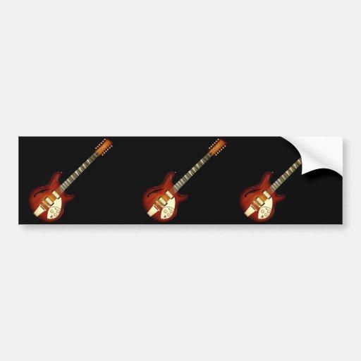 Guitarra Semi-hueco de la secuencia del resplandor Pegatina Para Auto