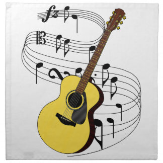 Guitarra Servilleta Imprimida