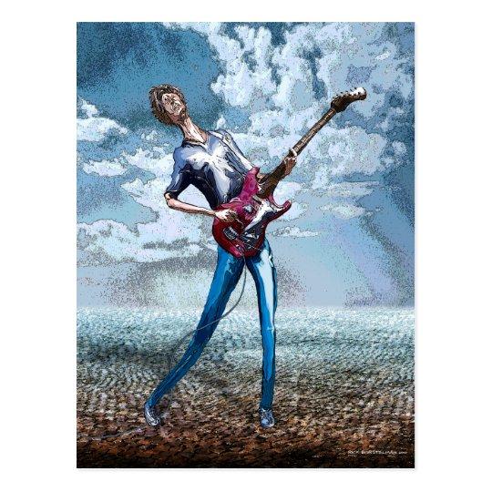 guitarra skinnny tarjeta postal