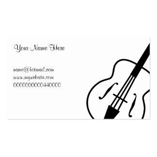 Guitarra, su nombre aquí, tarjetas de visita
