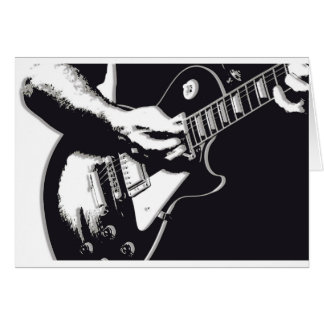 Guitarra Tarjeta De Felicitación