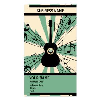 Guitarra - tarjeta de la industria musical plantilla de tarjeta de visita