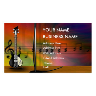 Guitarra - tarjeta de la industria musical tarjetas de visita