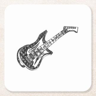 Guitarra Posavasos Desechable Cuadrado