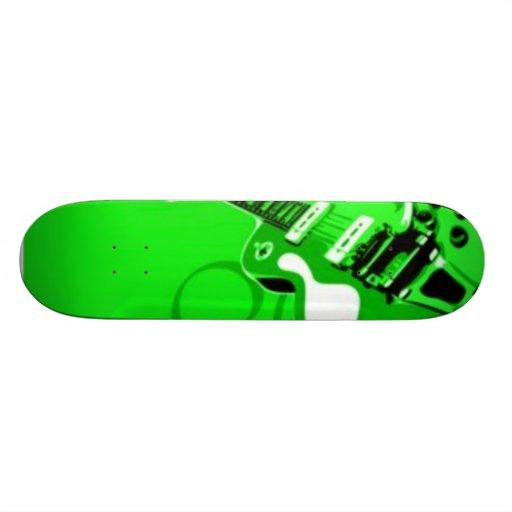 guitarra verde patines personalizados