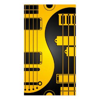 Guitarra y amarillo y negro bajos de Yin Yang Tarjetas De Visita