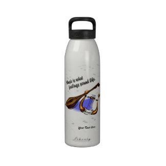 Guitarra y arpa - las sensaciones suenan como la b botellas de agua reutilizables