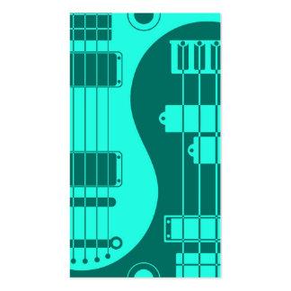 Guitarra y azul bajo del trullo de Yin Yang Tarjetas De Visita
