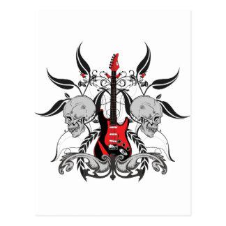 Guitarra y cráneo del Grunge Postales