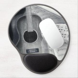 Guitarra y gel Mousepad de la partitura Alfombrillas Con Gel