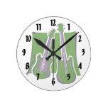 guitarra y green.png estilizado bajo relojes de pared