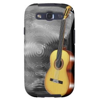 Guitarra y hoja de música galaxy s3 cárcasa