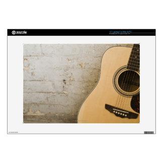 Guitarra y ladrillos portátil calcomanías