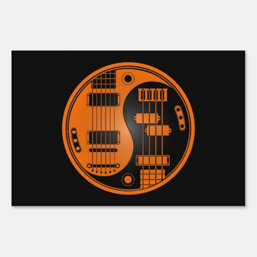 Guitarra y naranja bajo y negro de Yin Yang