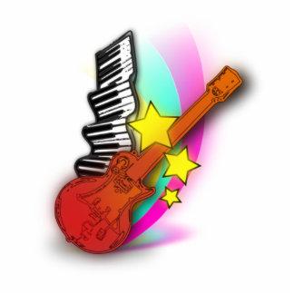 Guitarra y piano esculturas fotográficas
