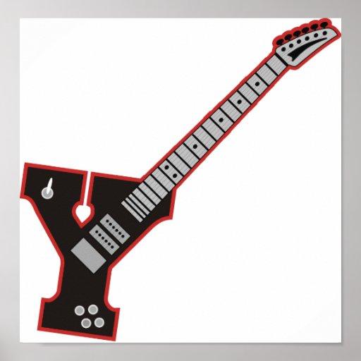 Guitarra Y Poster