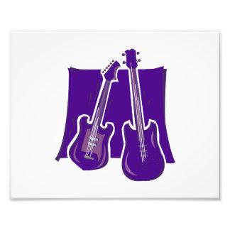 guitarra y purple.png estilizado bajo fotografía