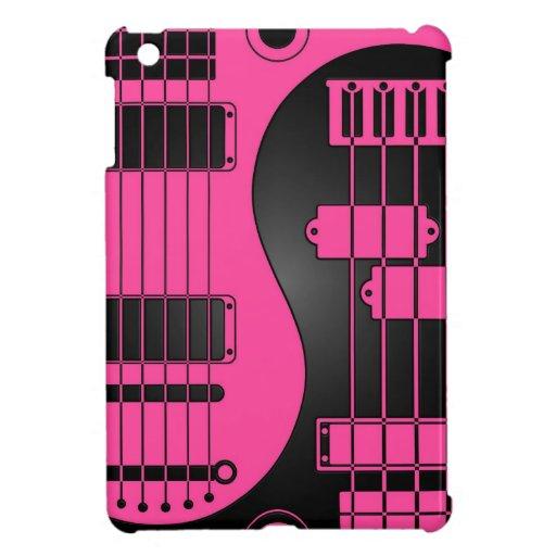 Guitarra y rosa y negro bajos de Yin Yang