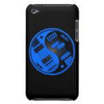 Guitarra y Yin bajo Yang azul y negro iPod Touch Case-Mate Carcasa