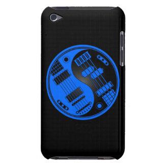 Guitarra y Yin bajo Yang azul y negro Funda Para iPod De Barely There