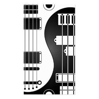 Guitarra y Yin bajo Yang blanco y negro Tarjetas De Visita